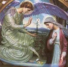 The angel with Mary